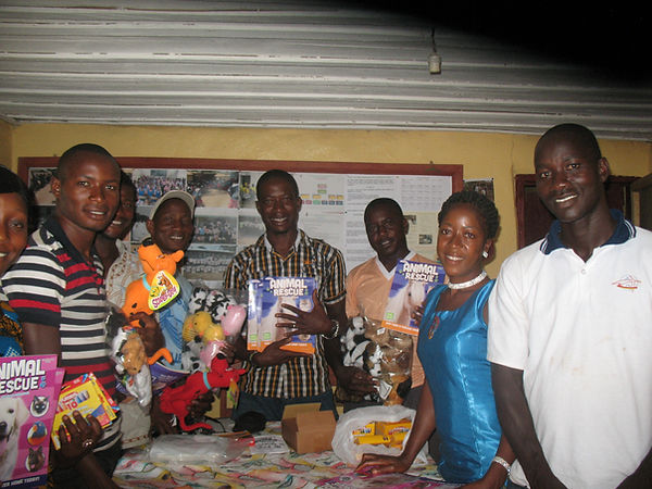LAWCS team with Tina's donation.JPG