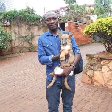 A lucky Haven dog goes to a new home!