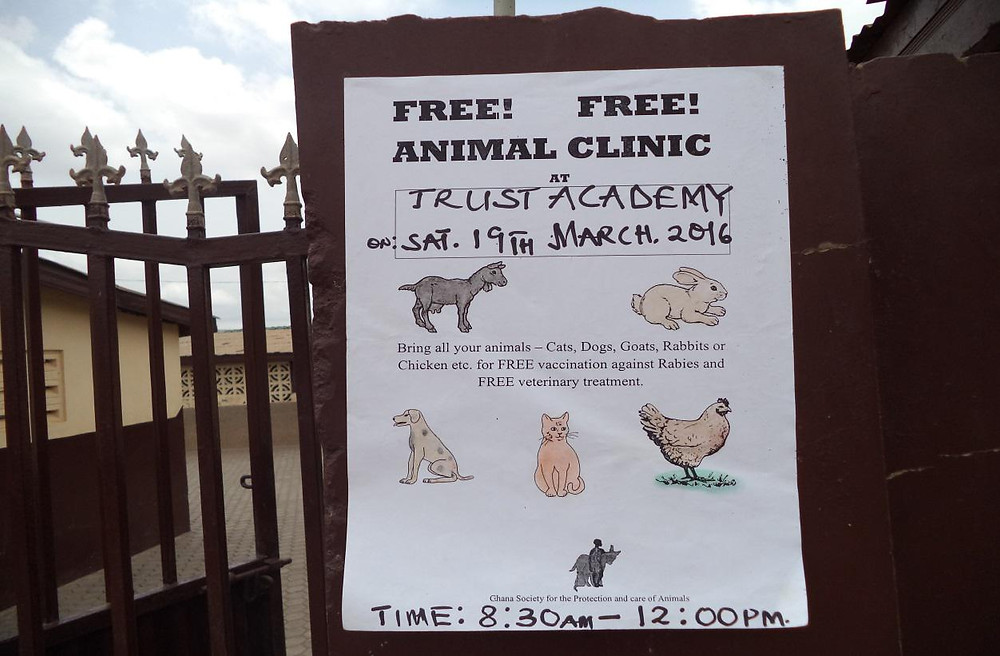 Poster advertising the clinic