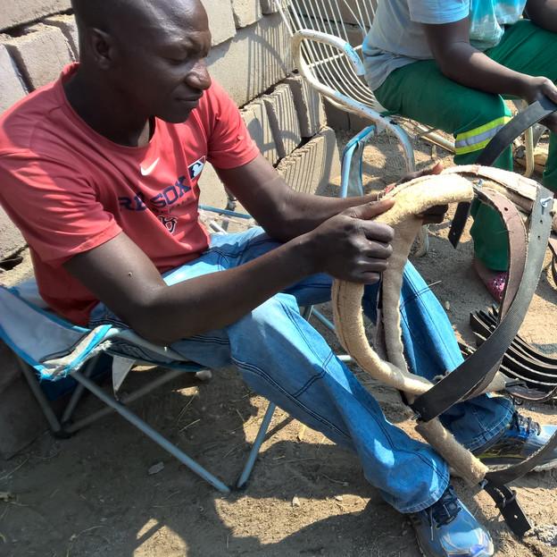 Tikobane harness making