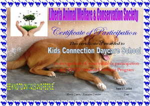Sample of certificate that all participating schools received