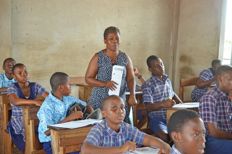 This North Legon HE class benefits from having 2 HE teachers!