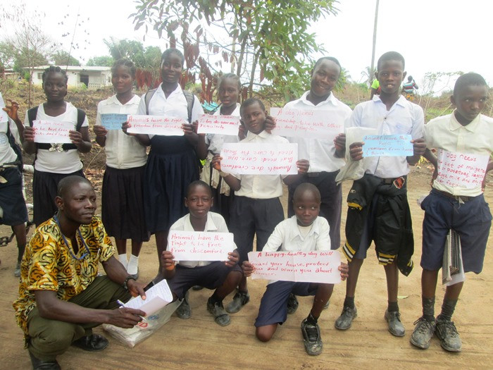 Voinjama students advocating for animals