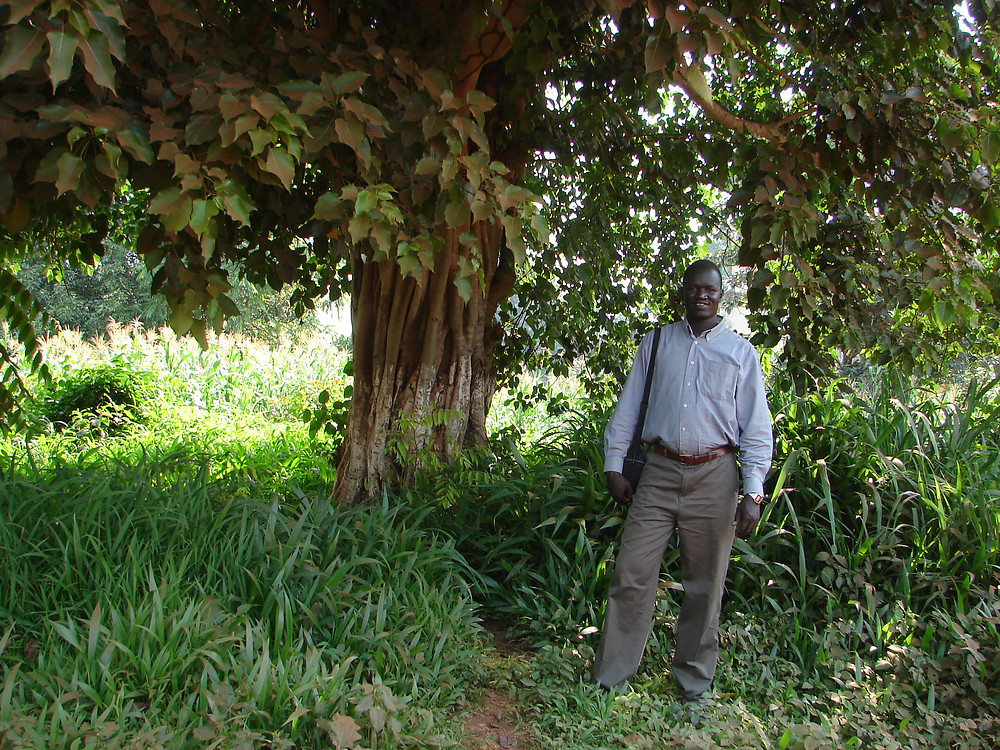 The author, Nickson, in South Sudan