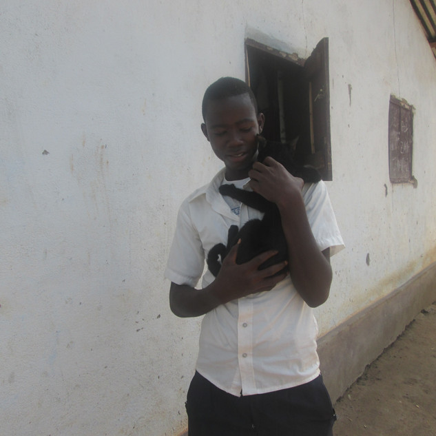 LAWCS HE student & his cat
