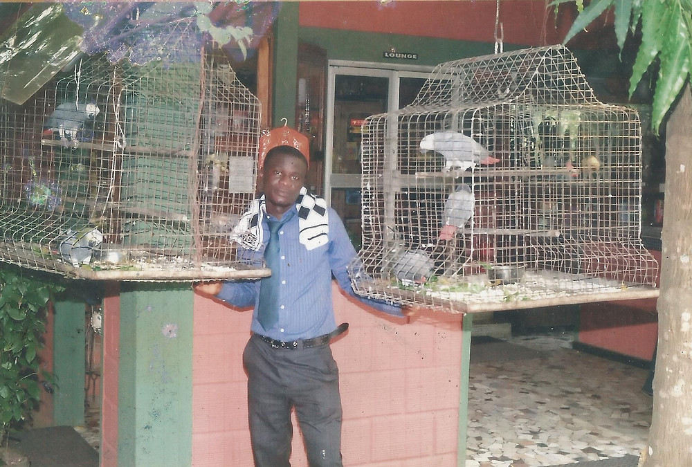 Chiemeka showing some of the animal welfare issues he deals with in Lagos