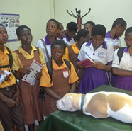Field trip La Clinic Trust  Academy  Kwabenya JHS Theater offered lessons on basic practice in surgery  .JPG