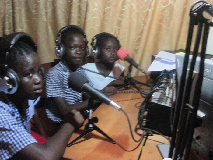 Kids Connection HE class for their weekly radio broadcast about animal care