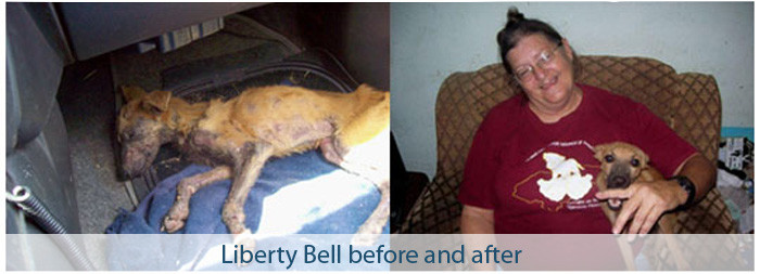 Liberty Bell, before-after (with Pilar)