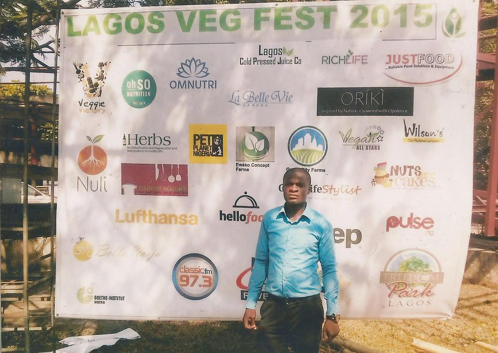 Chiemeka at the Lagos Veg Fest 2015