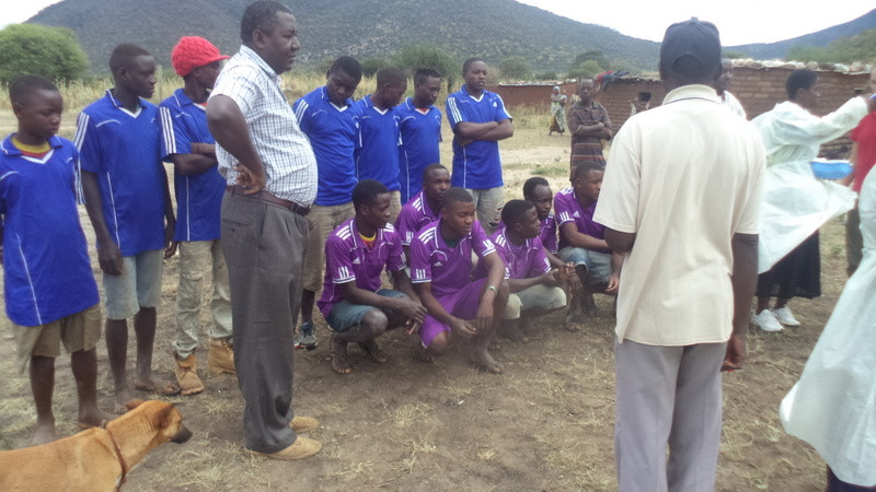 TAWESO football teams-donkey owners have fun and learn about donkey care