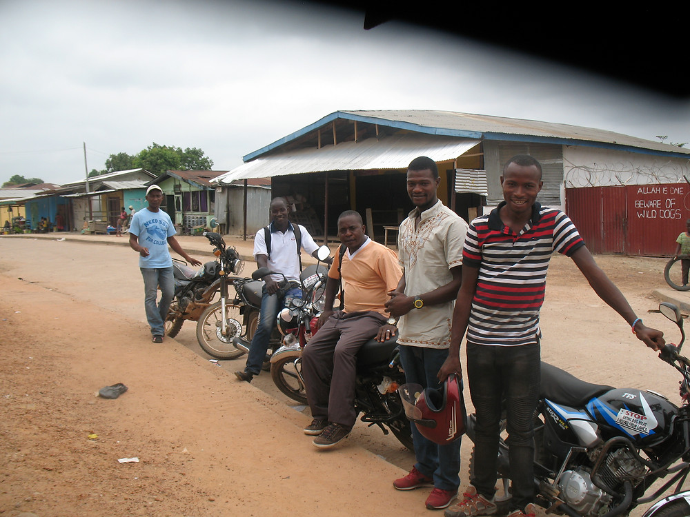 Five of the LAWCS volunteers and their motorbikes, 2 of which were purchased thanks to AKI donors
