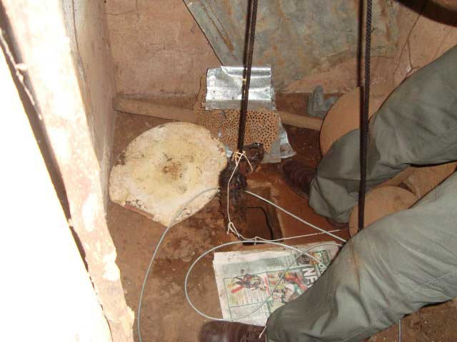 Alex rescues a kitten from a latrine