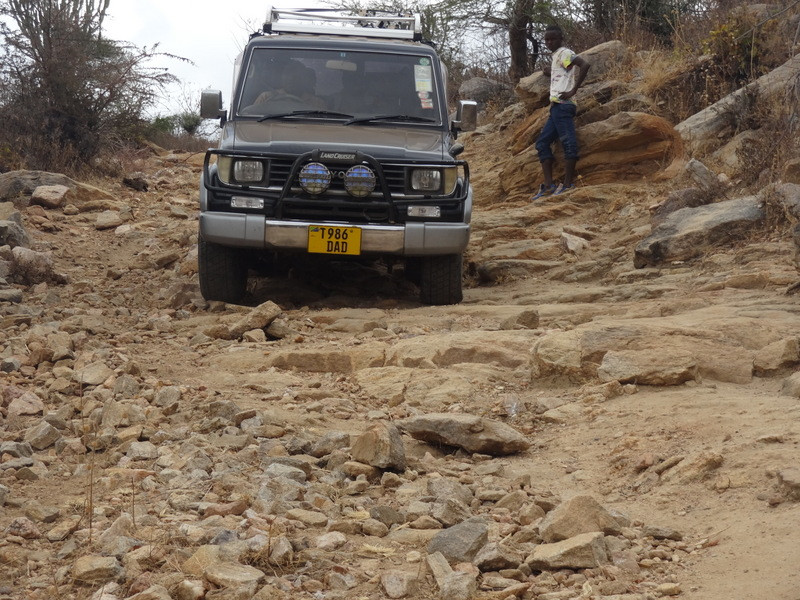 The TAWESO team traveled this road to hold a donkey clinic
