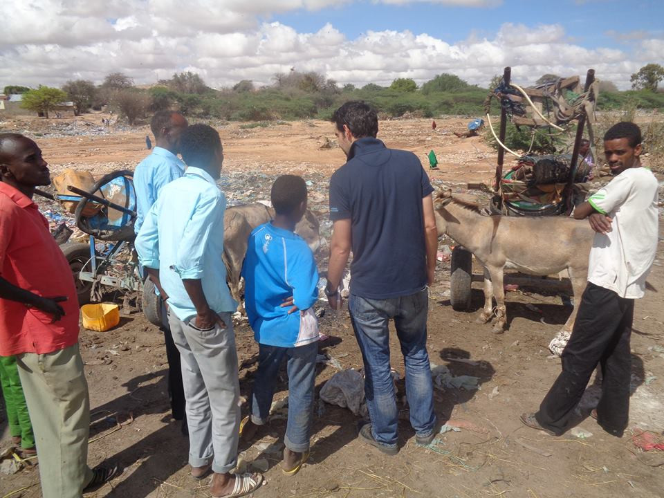 Alex from the Donkey Sanctuary visits with owners of working donkeys