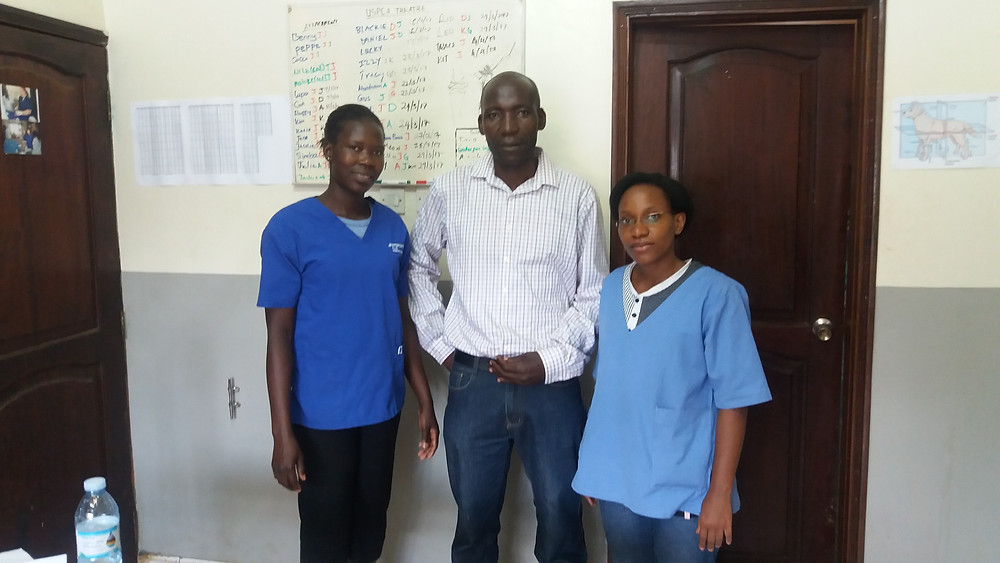 Jackline (vet assistant), Alex, Dr. Josephine