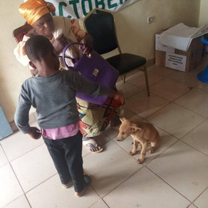 OIPA-Cameroon is pleading for donations to help a poor family keep the rescued puppy they love.