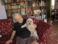 June Samson and Jean in his new home
