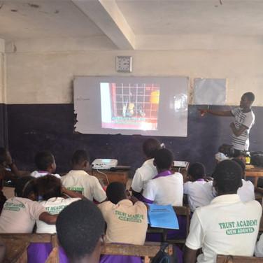 GSPCA Humane Ed class at Trust Academy