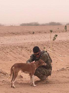Rosie with her Rescuer