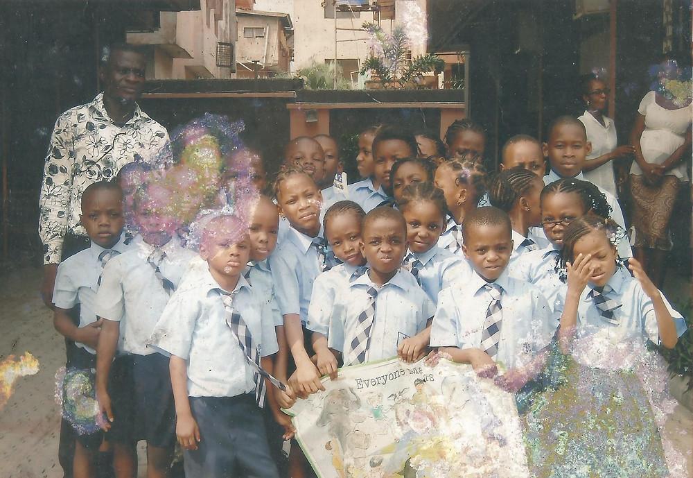 Chiemeka speaks to a school group