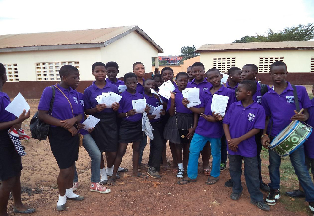 PUPILS OF KWABENYA ATOMIC READY FOR AWARENESS CREATION CAMPAIGN