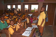 Enoch Tetteh VP of Donkey Kindness Club leading the lesson  (1).JPG