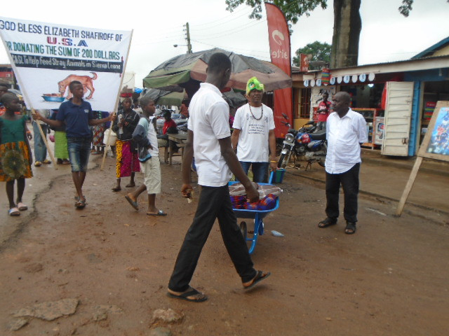 Parade through Bo, Sierrra Leone