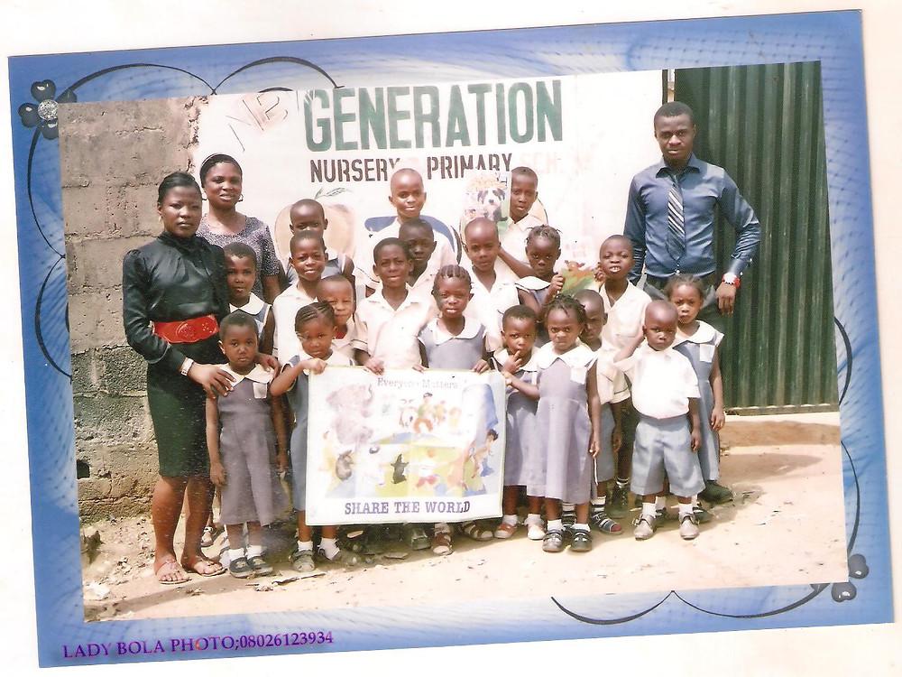 Chiedozie visiting Generation school in Nigeria