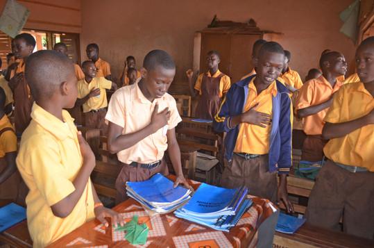 Pupils always recite Kindness club Pledge before lessons  (3).JPG