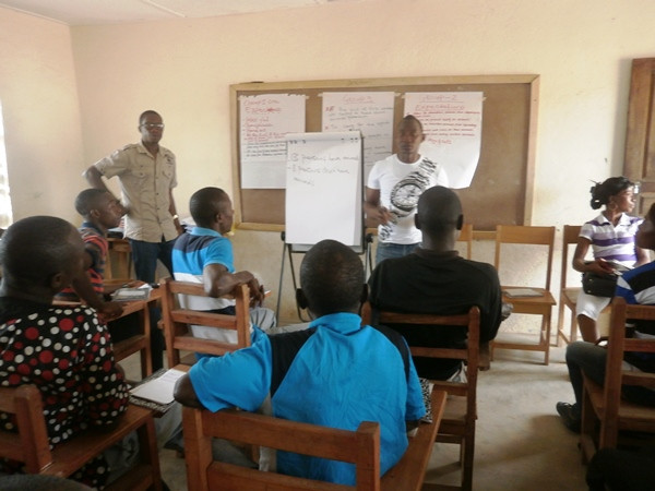 Abie leads teacher training