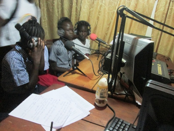 Kids Connection HE class at the radio station