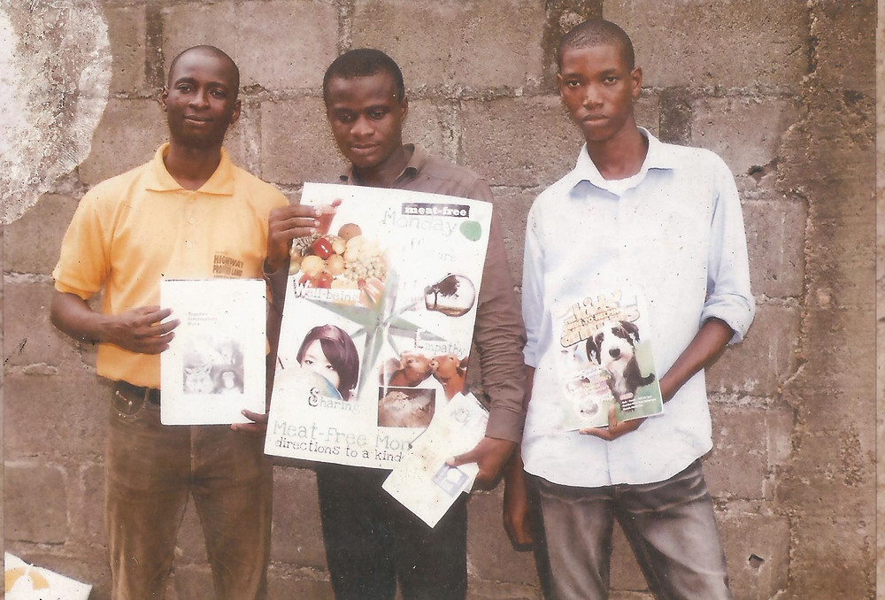 Some of the Humane Ed material Chiemeka uses in his talks