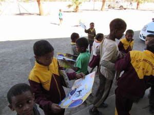 Children in Bethanie are excited about receiving Pako, a magazine about animals.
