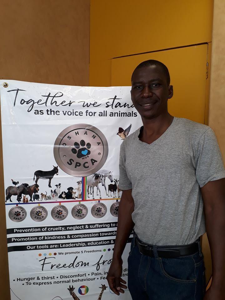 Filipus, Oshana SPCA animal welfare inspector