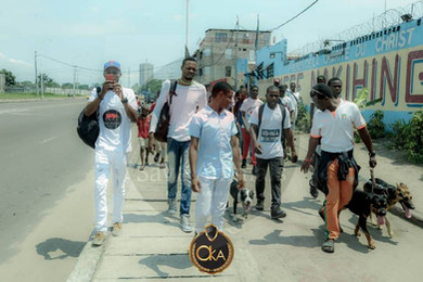 Kinshasa dog walk-Oct