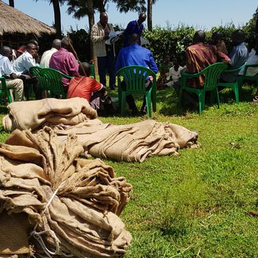 Sisal sacks to be made into saddles