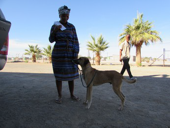"""Man (dog) and his owner, 1 of the """"old customers"""""""