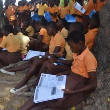 24 June HE pupils _ Doba JHS in the Kase
