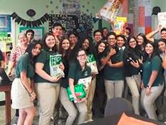 Pilar visits schools