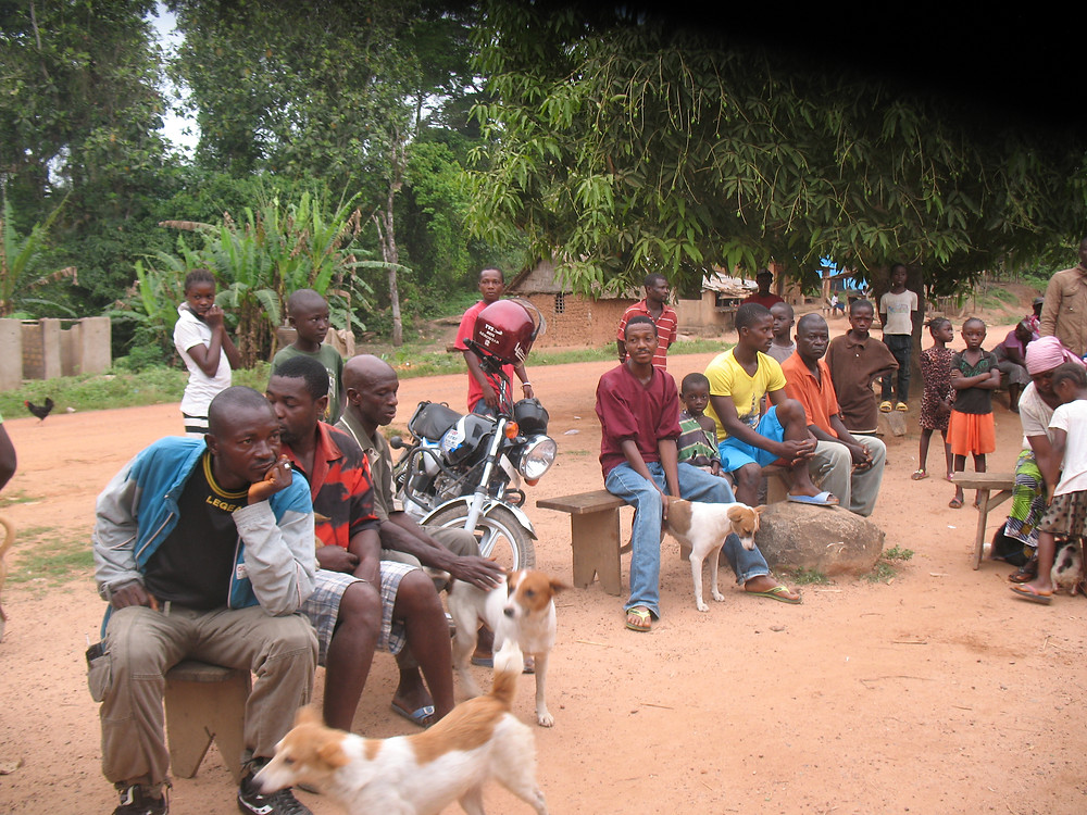 Dog owners gathered for the clinic