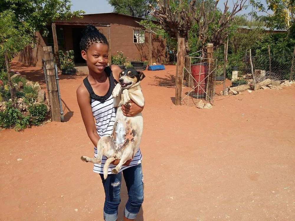 20 Sept-another Aranos dog spayed with her owner