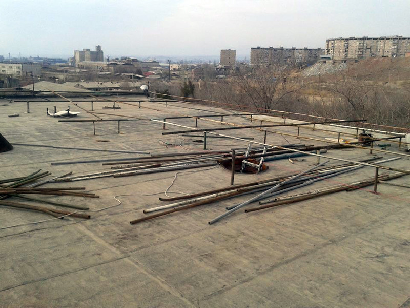 AKI funds covered the purchase of material and the repair of the SAA shelter roof