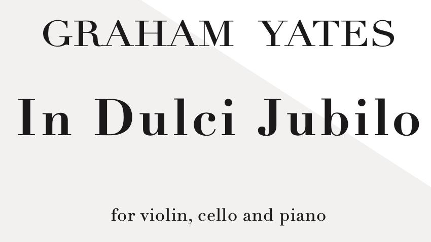 In Dulci Jubilo/Good Christian Men Rejoice (piano trio)