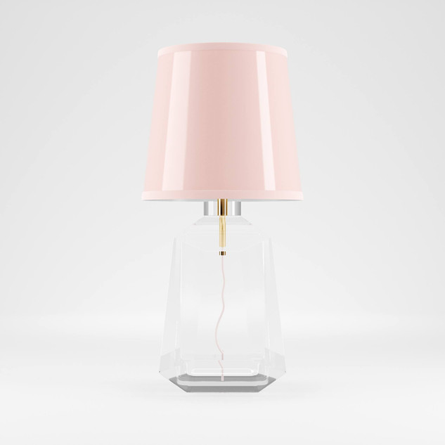 PINK Crystal Table Lamp design By Madele