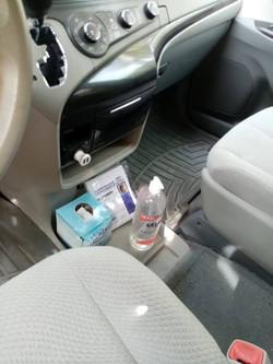 Covid Protocol Signals at car