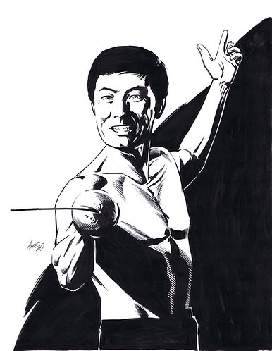 George Takei as SULU Original Art