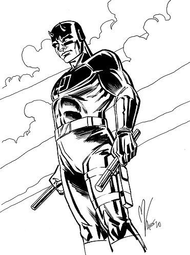 Daredevil Original Inked Art