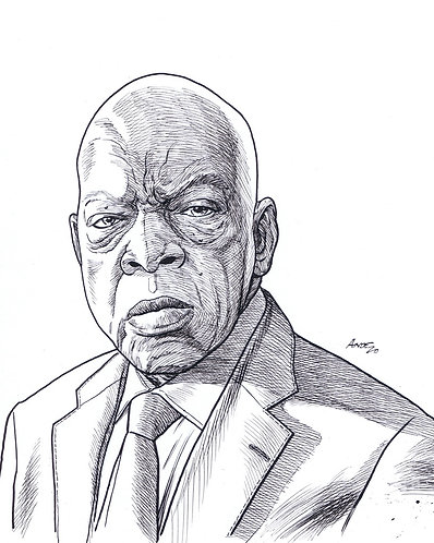 John Lewis Black and White Print