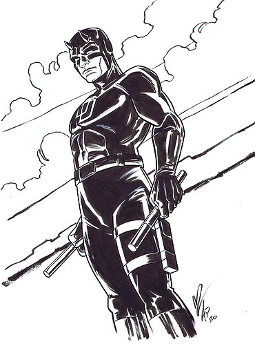Daredevil Original Sketch with Megan Levens